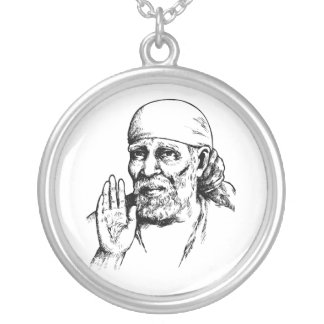 Hindu Saint SAI Silver Plated Necklace