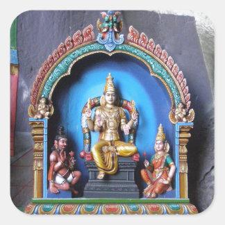 Hindu Shrine, Batu caves Square Sticker