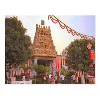 Hindu temple, a day to celebrate postcard