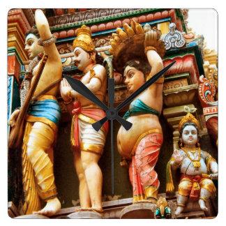 Hindu temple figures wall clocks
