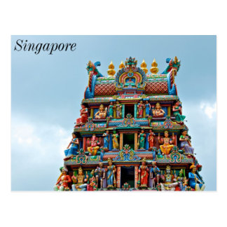 Hindu Temple Little India Singapore Postcard