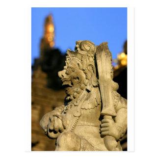 Hindu temple sculpture Ubud Bali Postcard