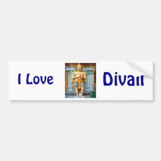 Hindu temple statue bumper sticker