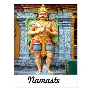 Hindu temple statue postcard