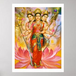 Hindu Three Goddesses Poster