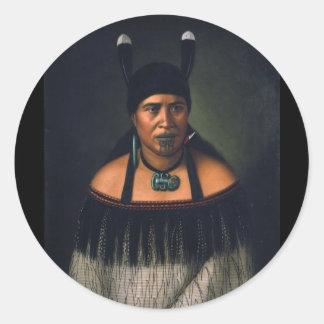 Hinepare (Maori Woman) - G. Lindauer Sticker