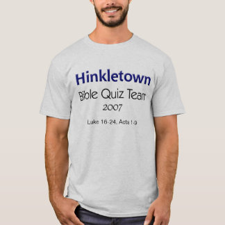 Hinkletown Bible Quiz Team, 2007 T-Shirt