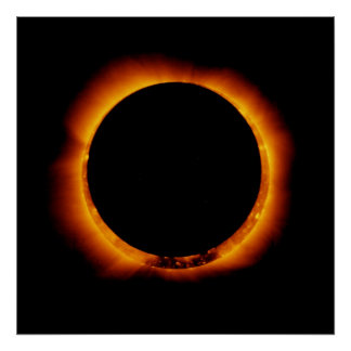 Hinode Observes an Annual Solar Eclipse Poster