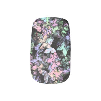 hint of butterfly Minx nails Minx Nail Art