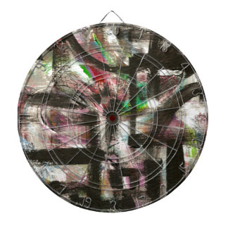 Hint Of Spring-Hand Painted Abstract Art Dartboard