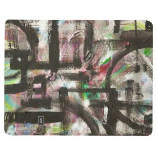 Hint of Spring-Hand Painted Abstract Art Journals