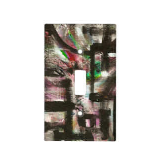 Hint of Spring-Hand Painted Abstract Brushstrokes Light Switch Cover