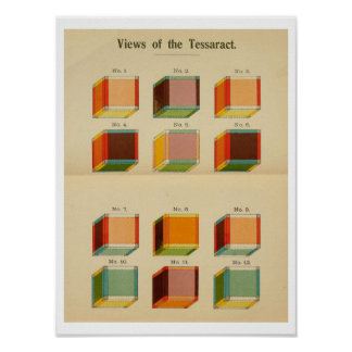 "Hinton's ""View of the Tessaract"" Poster"
