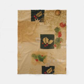 Hints Of Holly Christmas Fleece Blanket