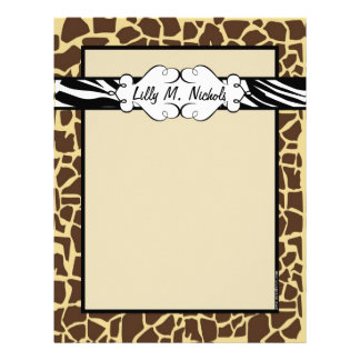 Hip and Chic Animal Print Letterhead