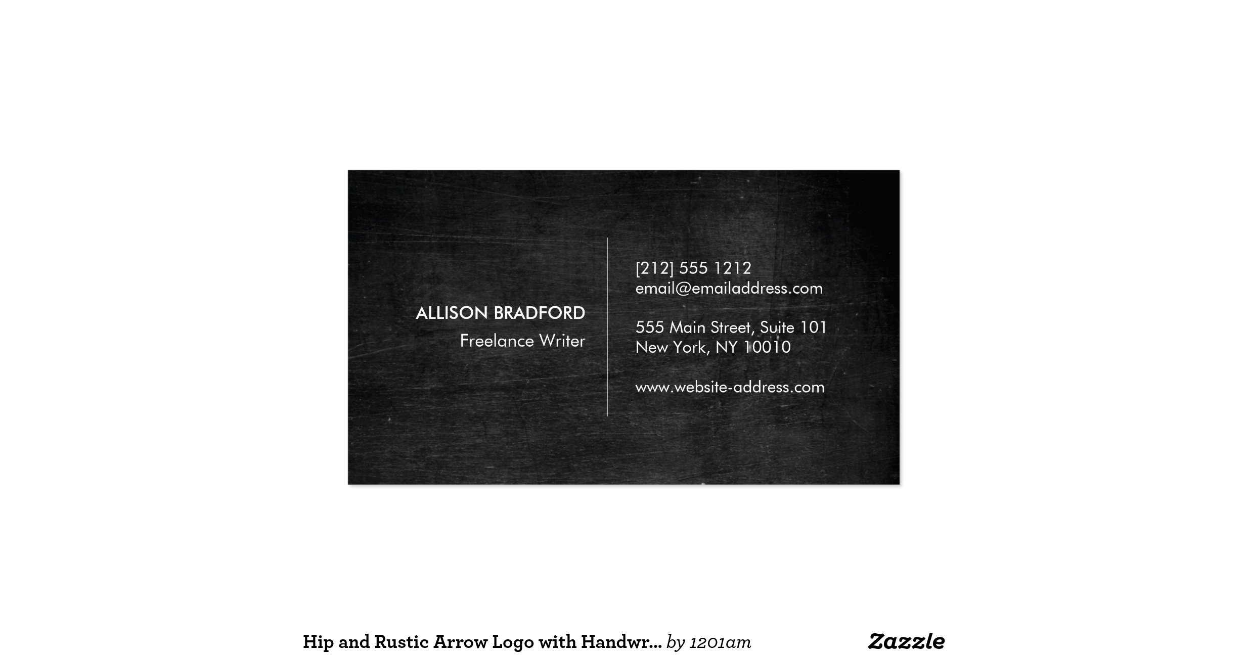 Hip and rustic arrow logo with handwritten name double for Handwritten business cards
