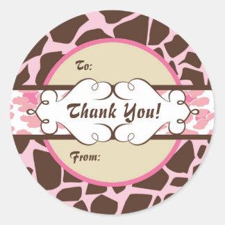 Hip Animal Print Gift Label