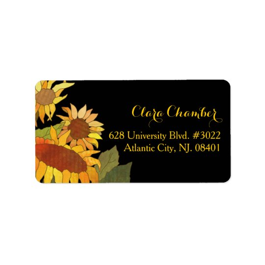 Hip Autumn Sunflowers Floral Address