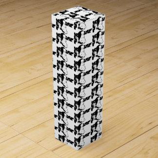 HIP BLACK AND WHITE SANTA GIFT BOX FOR WINE