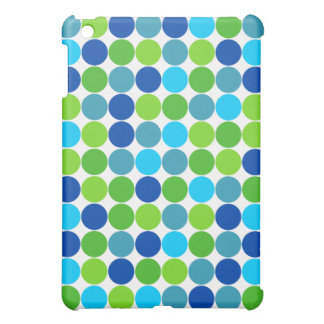 Hip Blue and Green Polka Dot Pattern iPad Mini Case