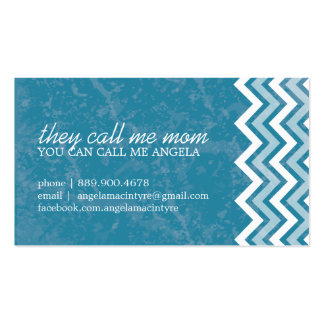 Hip Chevron Mommy Cards Business Card