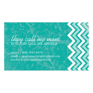 Hip Chevron Mommy Cards Pack Of Standard Business Cards