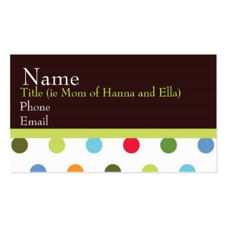 Hip Chick Mommy Card Business Card