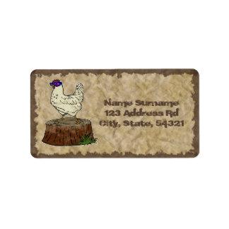 Hip Chicken, address label