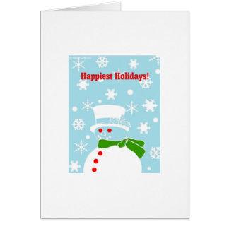 Hip Christmas Snowman Card