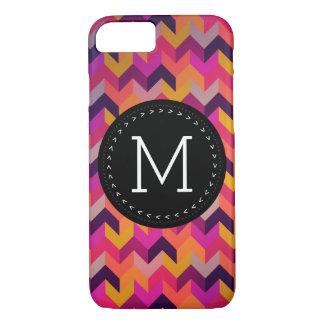 Hip Colorful Geometric Pattern Customized Monogram iPhone 7 Case