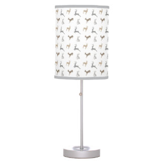 Hip Deer Pattern in Neutral Browns Table Lamp