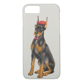 Hip Doberman (Background Color Editable) iPhone 8/7 Case