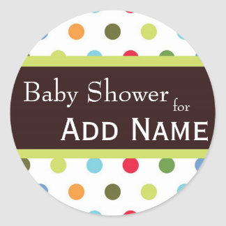 Hip dots Baby Shower Sticker