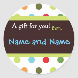 Hip Dots Personalized Gift Sticker