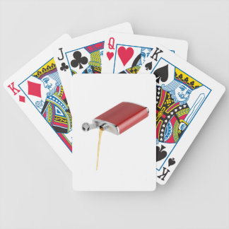 Hip flask bicycle playing cards