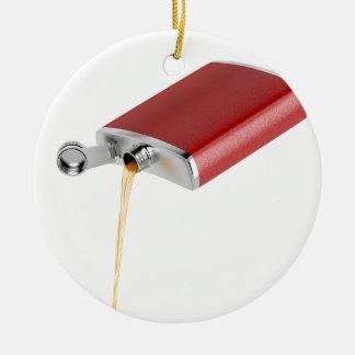 Hip flask ceramic ornament