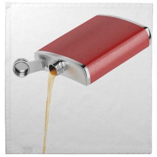 Hip flask napkin