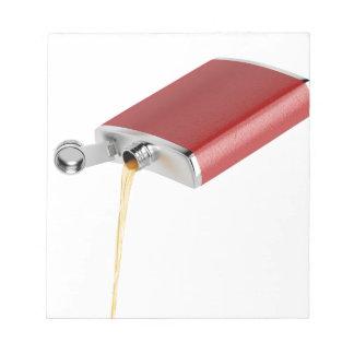 Hip flask notepad