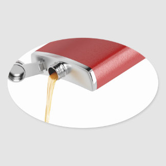 Hip flask oval sticker