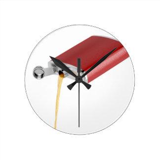 Hip flask round clock