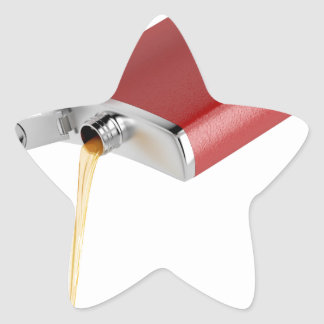 Hip flask star sticker