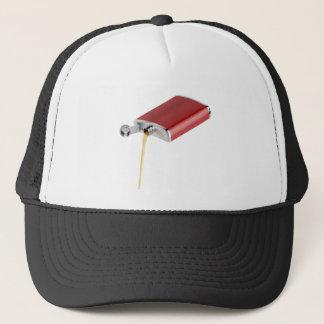 Hip flask trucker hat