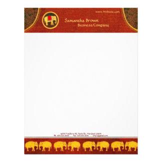 Hip Golden Elephants Contemporary Business Letterhead