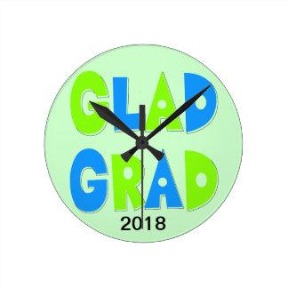 Hip Graduation Decorative Round Clock