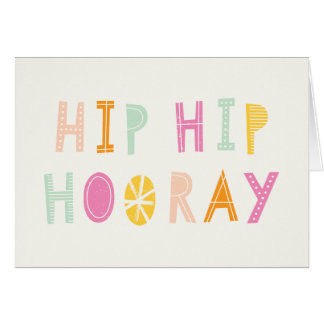 Hip Hip Hooray Birthday Card - Orange