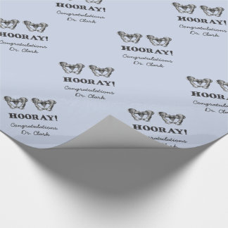 Hip Hip Hooray Personalized Anatomy Message Wrapping Paper