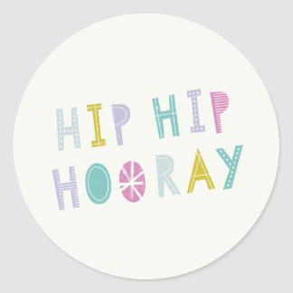 Hip Hip Hooray Sticker - Lime