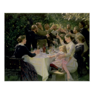 Hip Hip Hurrah! Artists' Party at Skagen, 1888 Poster