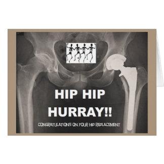Hip Hip Hurray - Contrats on Hip Surgery Card
