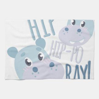 Hip Hip-po Ray Hand Towel